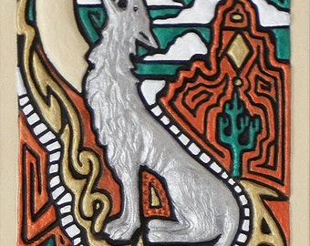 Coyote Song - Cast Paper - south western art - Anasazi