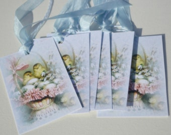 Vintage Style Easter Tags
