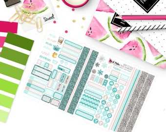 Pocket size - BABY IT'S COLD Planner Sticker Kit | Travelers Notebook Field Note Size |  TN016
