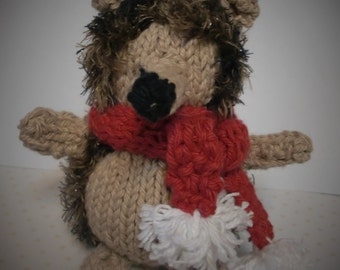 Knitted Hedgehog Toy  Soft Plush Doll