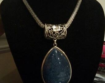 Blue Grafitti Necklace