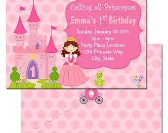 BKI013 Princess Castle Invitation