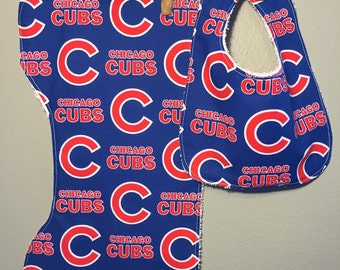 Chicago Cubs Baby Gift Set Bib, Burp Cloth