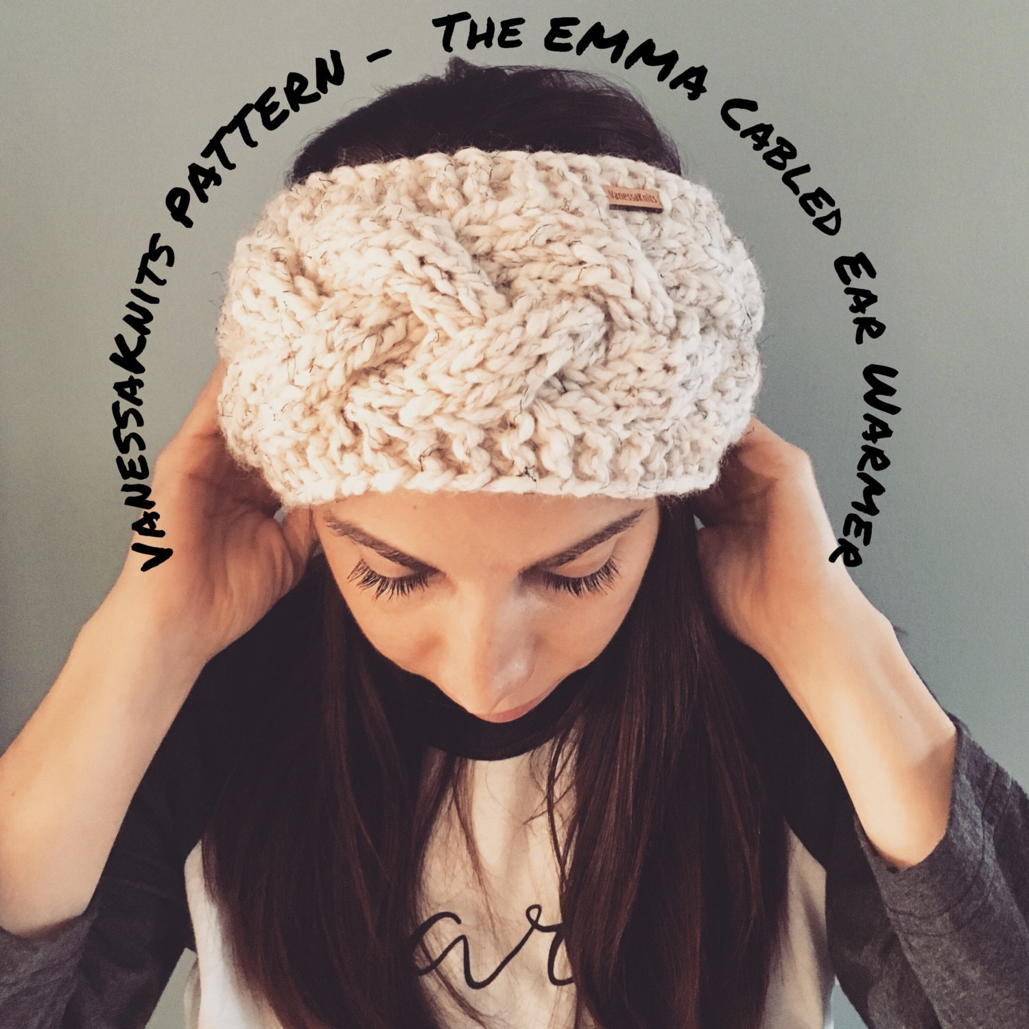 KNITTING PATTERN - The EMMA // Cabled Ear Warmer - Headband ...