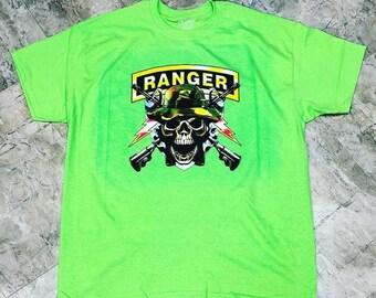 Army Ranger T shirt dtg printed