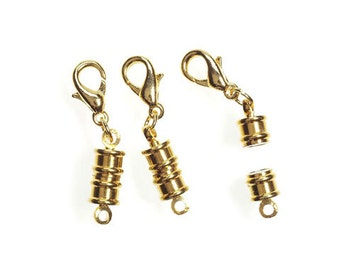 2 Sets of Gold Magnetic CONVERTER  Clasps, No Tools Needed, For Long Nails or Disabilities