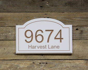 House Address Number Sign Plaque