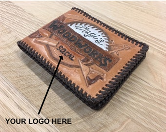 Put Your Logo / Customized / Personalized / Make it Yours / Hand Tooled Leather Bifold Wallet