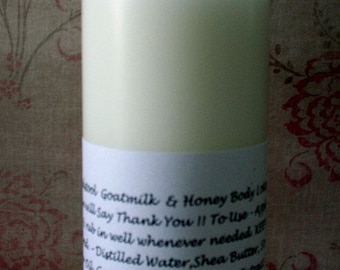 Almond Creme Body Lotion  from Toadstool Soaps Light Creamy Goatmilk Aloe Vera Honey