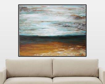 modern abstract art Canvas Wall art,seascape,acrylic painting ,room deco,monotone minimal  Abstract,