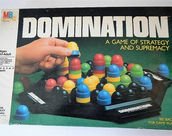 Vintage Domination Game - Milton Bradley - 1982, #4207, COMPLETE - strategy game, retro, family game, game night, classic, connect four, 3D