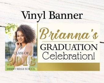 Graduation Class of 2018 Photo Banner ~ Congrats Grad Personalize Party Banners -Classic Graduation Large Banner