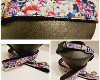 Flower Dog Collar - Girl Dog Collar - Spring Dog Collar - Floral Dog Collar - Dog Lover Gift - Dog Gift