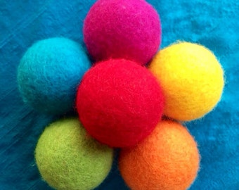 Juggling Balls-Individually Sold, Wool Felted Individual Juggling balls, Wool Felted Juggling Balls