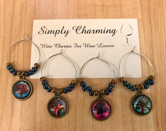 Tree Of Life Wine Charms