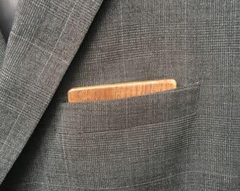 Wooden Reversible Pocket Square - Black Walnut