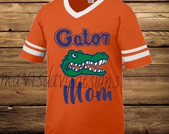 GATOR MOM Custom FLORIDA Gators Orange Jersey Style Shirt
