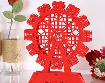 DIY Chinese wedding double happiness Ferris wheel, 3D Ferris wheel, Wedding decor, DIY wedding, DIY kit