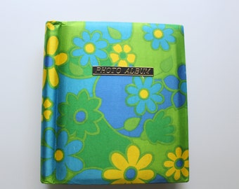 Vintage Daisy Hippie Flower Fabric Photo Album 1970s