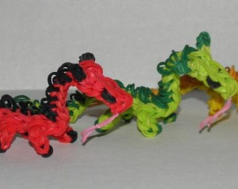Rainbow Loom Dragons!