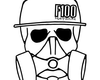 F100 Nation Skull Logo- Die Cut Vinyl