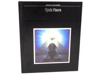 Mystic Places, Mysteries of The Unknown, Time Life Books 1987 Vintage Hardcover, 80's Prop