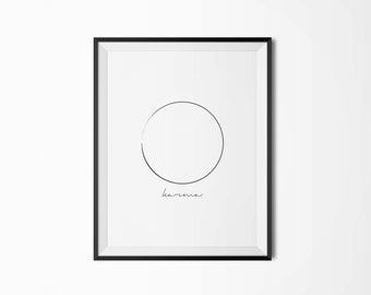 Printable Poster, What goes around comes around, Typography poster, Minimalist poster, Karma,  Motivational poster, Inspirational quote