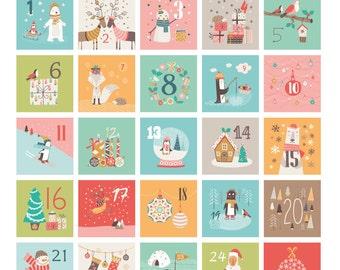 Printable Advent Calendar tags , 24 tags, Christmas Countdown tags, Cute Advent Calendar for children, number tags, caga tio, olentzero