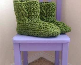 Chunky Cabled Slipper Boots Crochet Pattern *PDF PATTERN ONLY* Instant Download