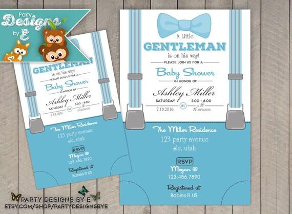 Little gentleman baby shower invitation lil man baby shower filmwisefo