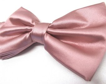Mens Bowtie. Dusty Rose Bowties. Dusty Rose Bowtie With Matching Pocket Square Option