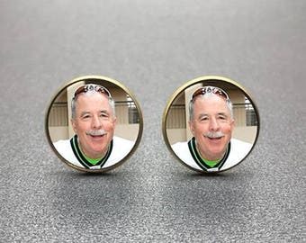 Personalized Cuff Links, Personalized Cufflinks, Custom Cufflinks made with you photo or message