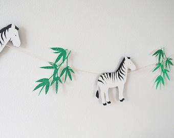 Zebra Safari Garland Banner