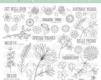 "Digital Stamp Art "" Botanical Garden"""