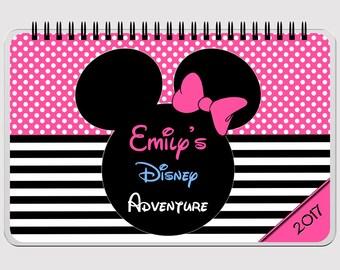 """Disney Autograph Book - PINK  - Minnie Mouse - FLIP BOOK - Journal- Notebook - Sketchbook - Diary - Scrapbook - 5.5"""" x 8.5"""""""