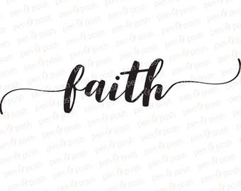 Faith SVG - Faith Clipart - Faith DXF - Decoration SVG - TShirt  Faith Cut File - Faith Cricut File - Faith Silhouette