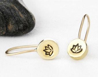 Lotus Earrings, Lotus Flower Earrings, Lotus Jewelry, Lotus Flower Jewelry, Lotus Flower, Yoga Earrings, Lotus, Yoga Jewelry