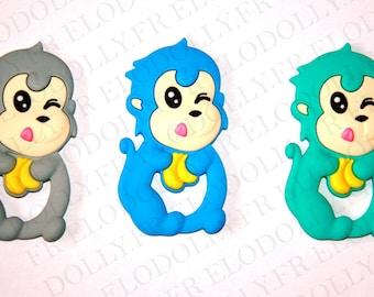 Monkey silicone teething ring