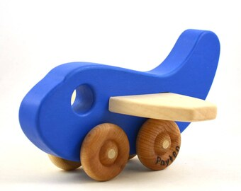 Personalized Wooden Toy Airplane- Choose Any Color - Etsy Kids