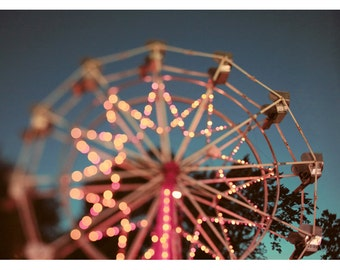 Ferris Wheel Photograph - Carnival Print - Fair Art - Fine Art Photograph - There is a Light That Never Goes Out - Ferris Wheel Print - Bock
