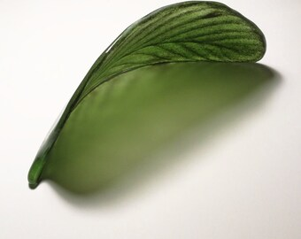 Fused Glass Leaf