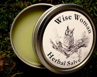 Wise Woman Herbal Healing Salve 1 oz.  Natural Healing Balm, Herbal Healing Salve, Organic Healing Balm, Centuries Old Recipe