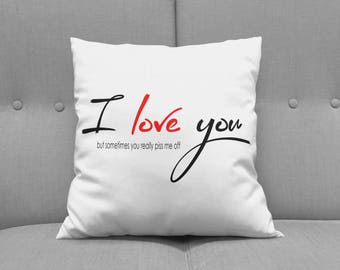 I Love You Pillow - Custom Pillow - Love Pillow - Wedding Gift - Holiday Gift - Engagement Gift - Pillow Design