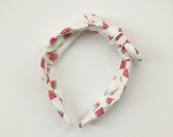 You Pick the Size - Watermelon Headband - removable bow!