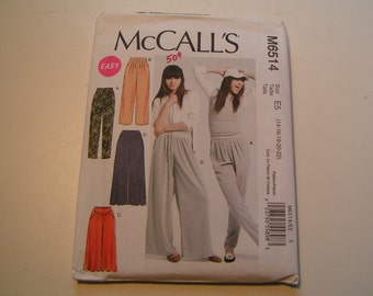 McCalls Pattern M6514 easy Miss Pants in two lengths and three widths