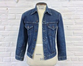 Vintage 1960s LEVIS BIG E Denim Workwear Trucker Jacket. Size S