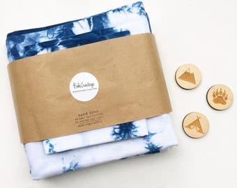Indigo Blue Scrunch Shibori Cot Sheet Set