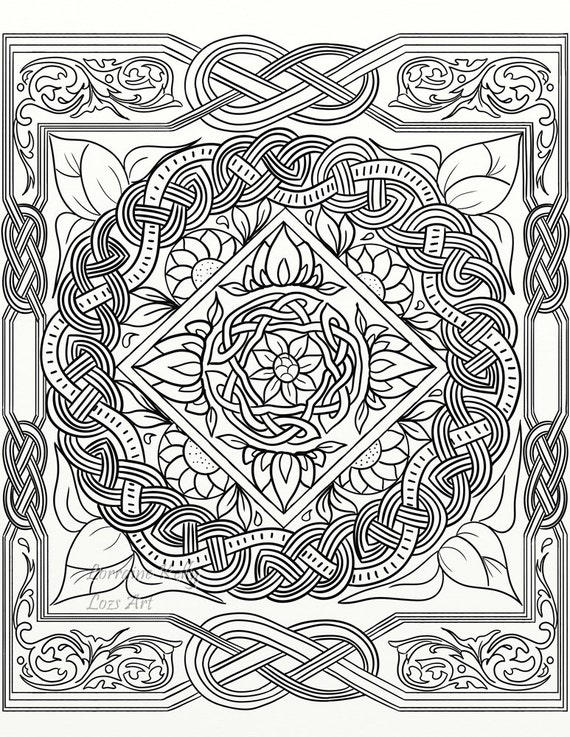10 x Celtic Knot Adult Coloring Pages Instant PDF Download DIY