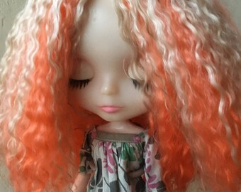 Blonde and Orange Angora Mohair Scalp
