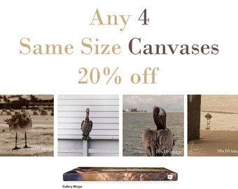 Custom Set of 4 Canvases SAME SIZE - 20% Off